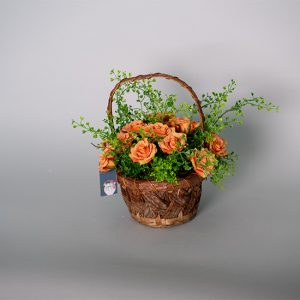 Peach Princess Roses in a Basket