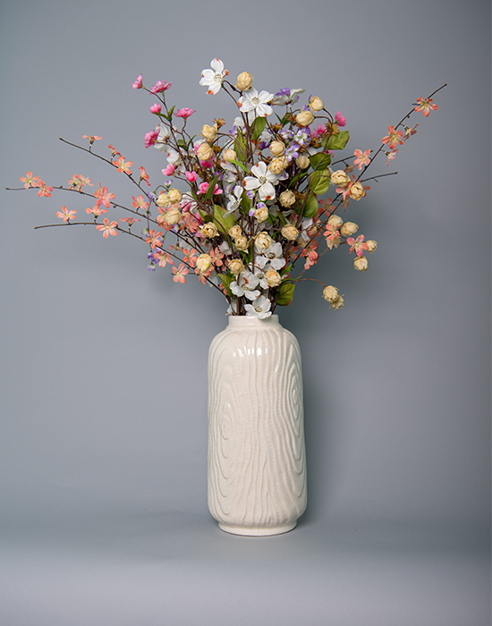 & Assorted Wild Flowers in a Long Ceramic Vase \u2013 Flomello