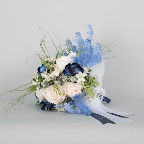 blue-and-white-flowers-with-blue-and-white-ribbons-bouquets-2