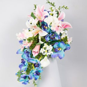 blue-pink-and-white-flower-cascading-bouquet-1
