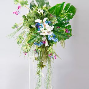 blue-pink-and-white-flowers-with-vines-arch-decoration-1