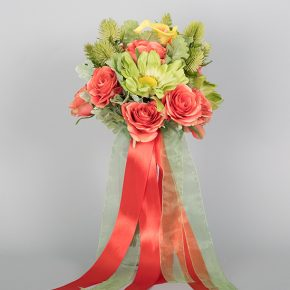 green-and-peach-flower-with-peach-ribbons-bouquets-1