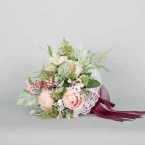 peach-rose-with-berries-and-purple-ribbons-bouquet-2