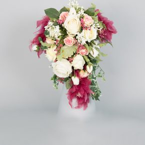 pink-and-white-flowers-with-purple-feathers-bouquet-1