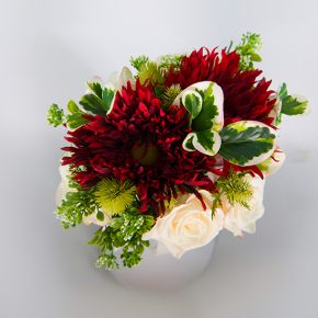 red-white-and-green-flower-bouquet-with-white-ribbons-2