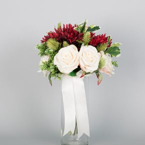 red-white-and-green-flower-bouquet-with-white-ribbons-3