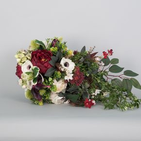 red-white-and-green-flower-cascade-bouquet-with-vines-2